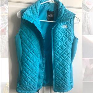 The North Face blue vest